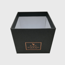 20 Years Factory for Square Flower Box,Square Paper Flower Box,Square Acrylic Flower Box Manufacturer in China Black Color Gold Stamping Rigid Cardboard Flower Box supply to France Importers