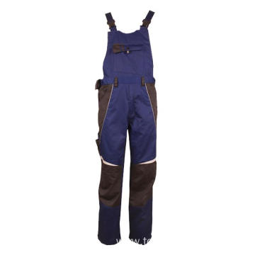Dark blue 65% polyester 35% cotton Bib Pants