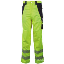 Hi Vis Orange Work Pants with Reflective Stripe