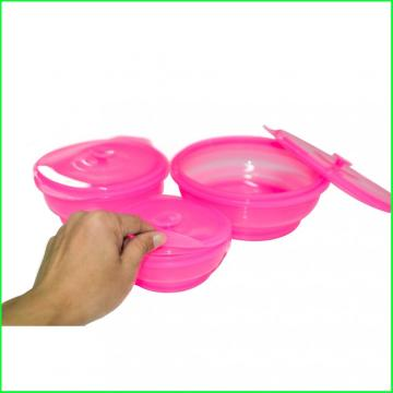 Round New Premium Silicone Folding Lunch Bowl