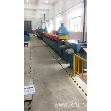 Rolling mesh belt quenching furnace