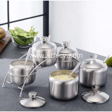 Stainless Steel Seasoning Jar Set