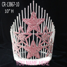 "20"" Large Rhinestone Patriotic 4th Of July Crown"