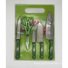 6pcs kitchen knife board set