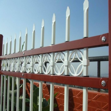 High quality powder coating steel picket fence (ISO & CE )