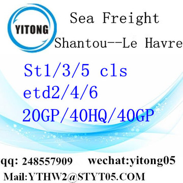 FCL/LCL shipping from Shantou to Le Havre
