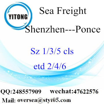Shenzhen Port LCL Consolidation To Ponce