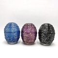 Mercury color Easter egg shape glass jar for candle