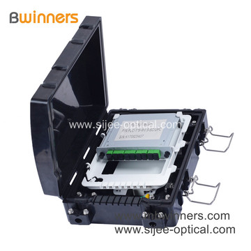 IP65 24 Core Fiber Optic Distribution Box 1X8 PLC Splitter