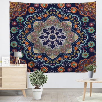 Bohemian Tapestry Mandala Wall Hanging Indian Style Boho Psychedelic Tapestry for Livingroom Bedroom Home Dorm Decor
