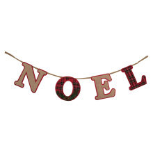 "Christmas bunting banner with ""NOEL"" letter pattern"