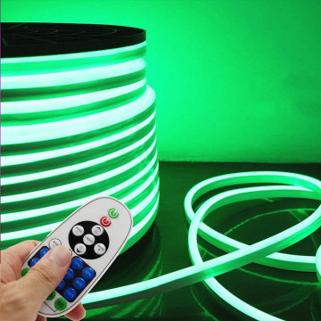 Decoration Green Flexible LED Neon Strip Lights