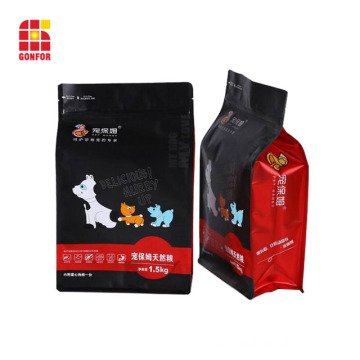 Aluminum Flat bottom pouch bag for dog food