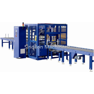 China supplier OEM for Mechanical Pre Stretch Wrapper Automatic Horizontal Stretch Film Wrapping Machine supply to Oman Supplier