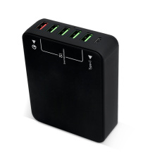 Adapter with 6 USB Ports Travel Charger