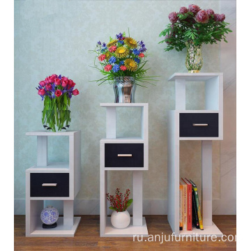 Garden wooden flower shelf Rack