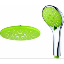 Green Round Plastic Hand Shower Head Set