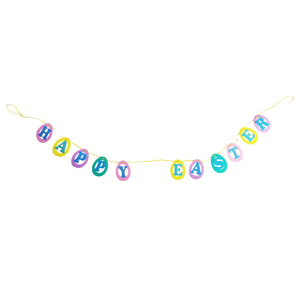 Easter Egg Pattern Bunting Flags