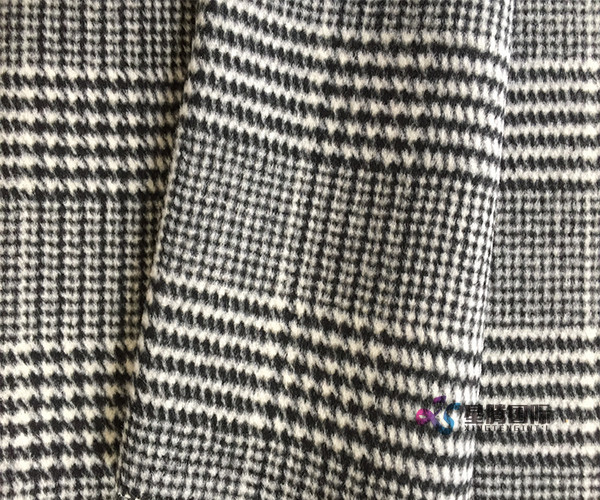 Double Face Houndstooth 100 Wool Fabric