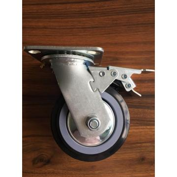 5'' heavy duty caster with double brake