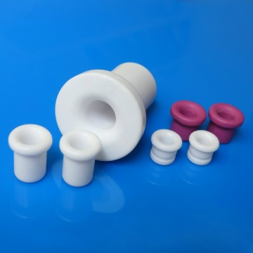 Low friction flanged ceramic eyelet
