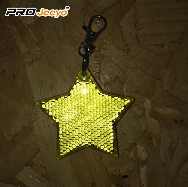 2 LED Light Reflective Star Hanger Key chain for Children Bag RB-503D 3