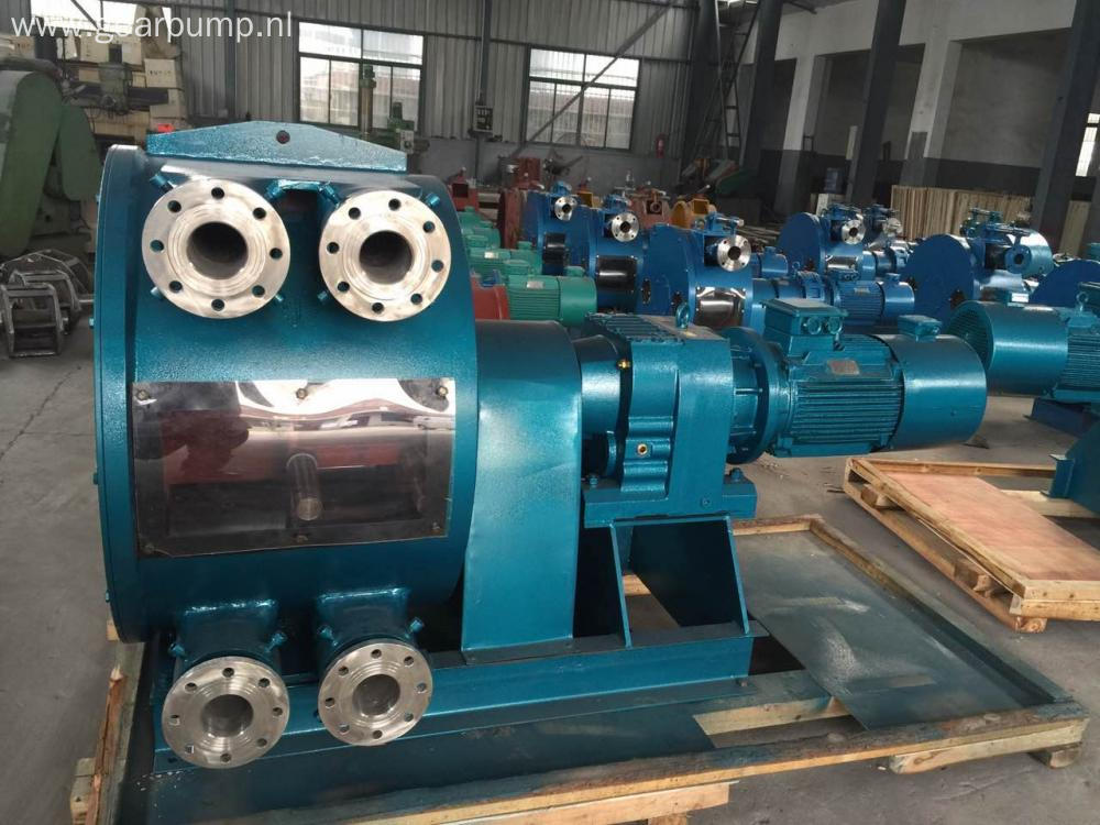 Stainless steel molasses transfer peristaltic hose pump