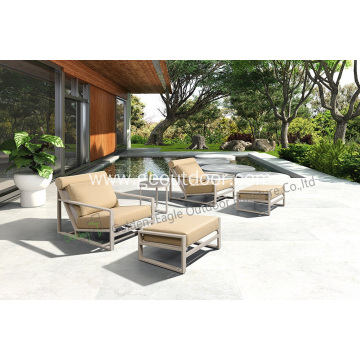 Leisure and popular aluminum pool sofa set