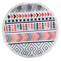 plain printed microfiber round beach towel