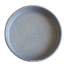 Black White Dots Round Deep Pizza Pan Tray