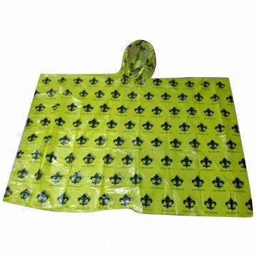 Clear Logo Printed Disposable Rain Poncho
