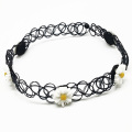 Women Fashion Necklace Resin Daisy Tattoo Choker Necklace