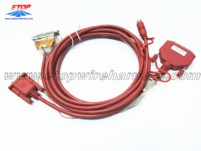 D-sub data cable assembly