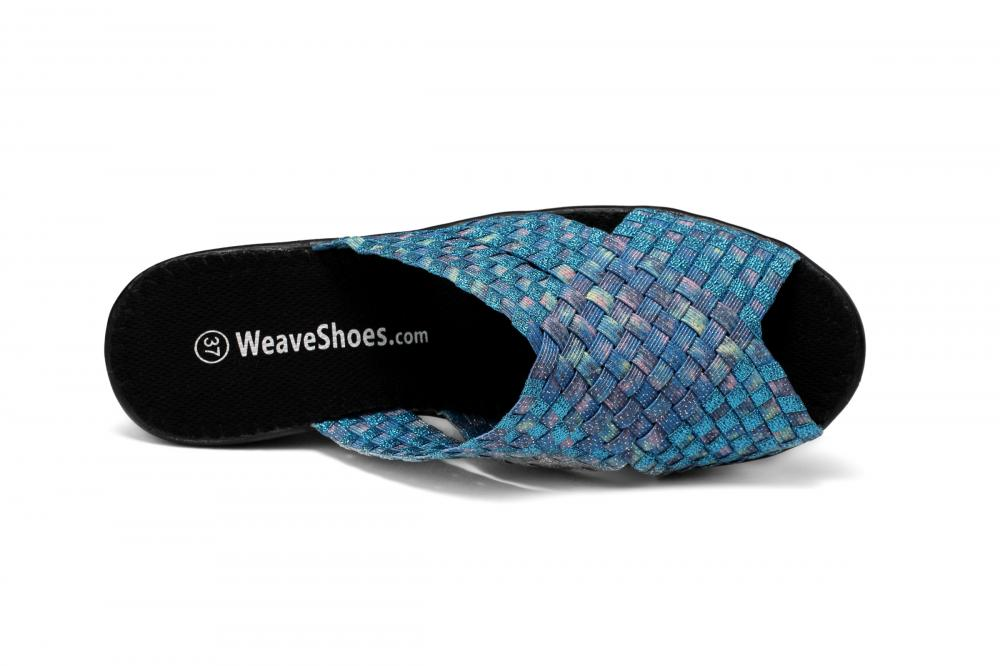 Flash Blue Woven Slippers