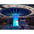 Creative round LED display screen for indoor