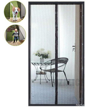 Magic screen door curtain
