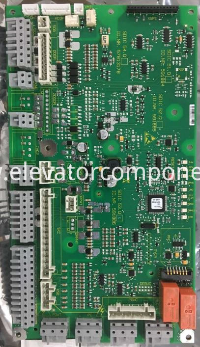 Schindler 3300 Elevator Car Top PCB SDIC 53.Q OEM Part# 591886
