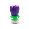 wholesale flower happy Birthday Lotus music rotating Candle