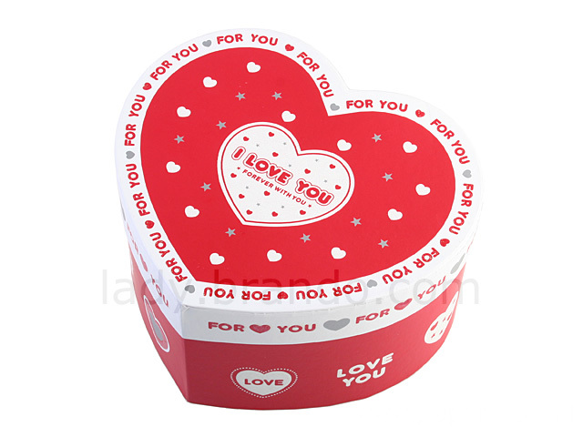 Customized Logo Printed Heart Luxury Jewellery Gift Box