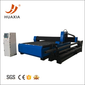 Sheet plasma cutting machine with rotary tubing cutter