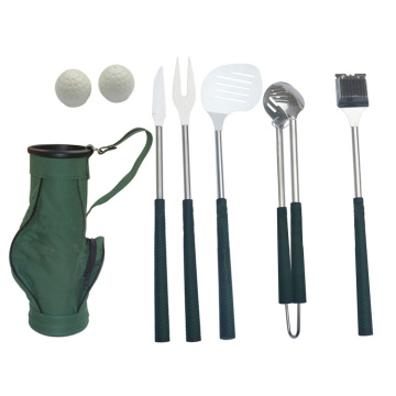 6pcs professional golf bbq tool set