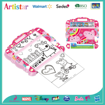 Peppa Pig rolling art desk