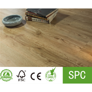 Superficie en relieve de piso de vinilo SPC