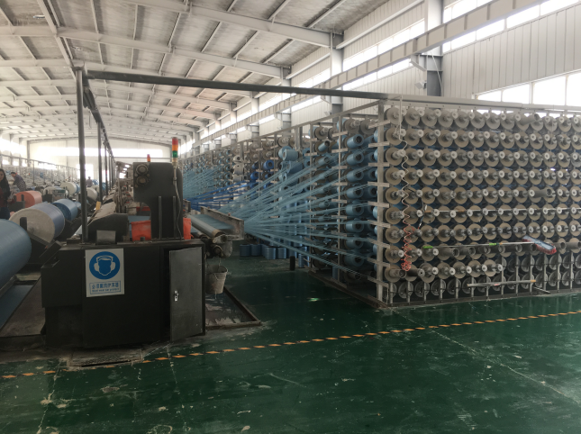 PE tarpaulin weaving room
