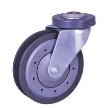China New Product for Stem Plastic Caster 5inch PU elevater caster export to Haiti Supplier