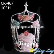 2015 new fashion candy Rhinestone Cupcake Crowns