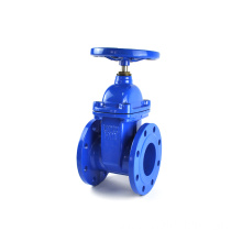 DN150 ductile iron economic blue Epoxy coating resilient seated gate valve PN16 F4