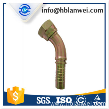 10 Years for Brass Hose Fitting BSP female 60 cone hydraulic hose fittings 22612D supply to India Factories