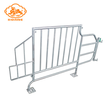 Galvanized double farrowing crate with loe prices
