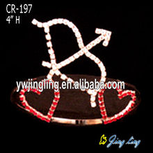 Custom Rhinestone Heart Pageant Crowns For Love